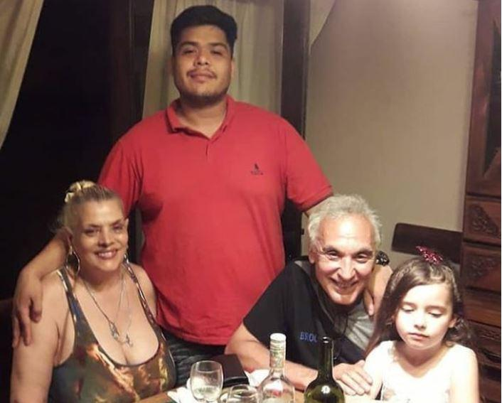 Lia Crucet y su familia (Tomada de Infobae)